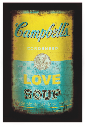 Love soup (Yellow/turqoise)