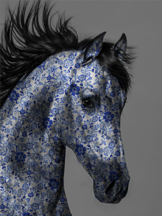 Ming Horse, Blue