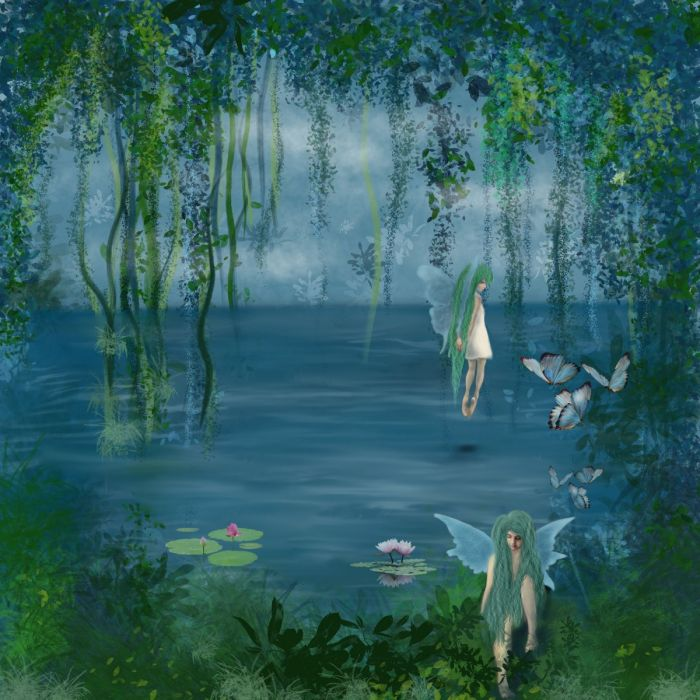 Fairies by Lake 2