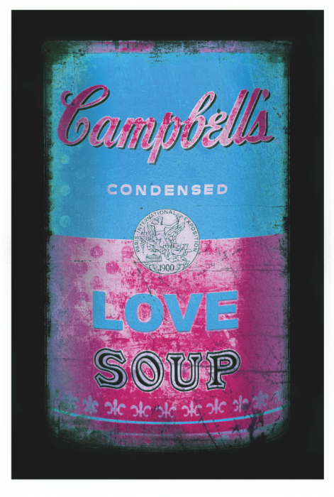 Love soup (Light blue/pink)